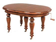 Mesa Victoriana Oval 4 Extensibles