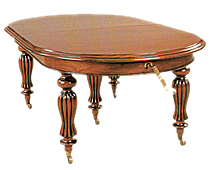 Mesa Victoriana Oval 5 Patas Extensible