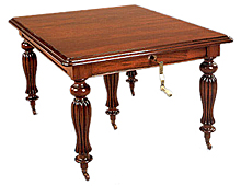 Mesa de Comedor Madera Victoriana Rectangular 5 patas