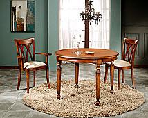 Mesa de comedor victoriana redonda extensible