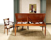 Mesa de Comedor Madera de comedor extensible clásica de piano