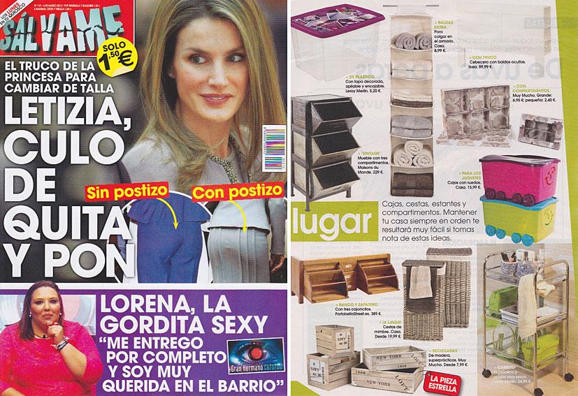 Revista Salvame - Marzo 2013 Portada y P�gina 25