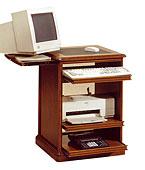Mesa de ordenador estrecha clásica