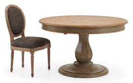 Mesa de comedor redonda extensible vintage Mupio