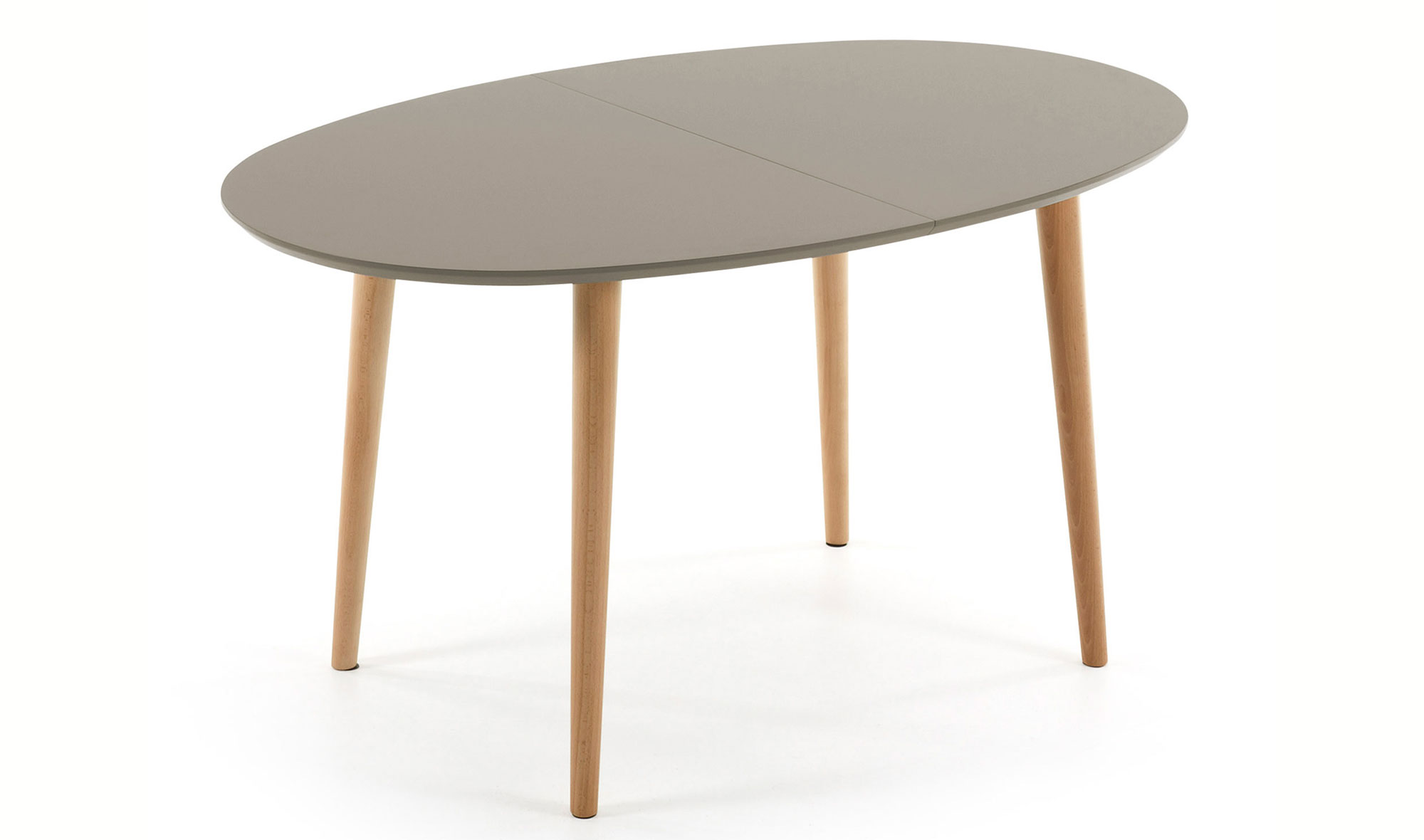 OQUI  MESA OVAL 140(220) EXT MADERA NAT LAC MATE MARRON