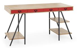 Mesa de escritorio 4 cajones industrial Dyker