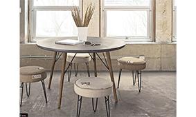 Mesa de comedor redonda vintage Ragusa - Mesas de Comedor Vintage - Muebles Vintage
