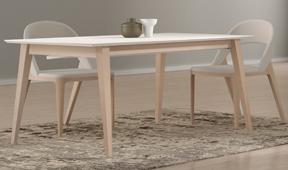 Mesa de comedor extensible nórdica Mankel