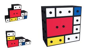 Chiffonier modular Mondrian Colors