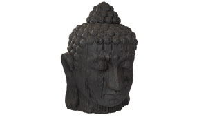 Cabeza grande negra Buddha