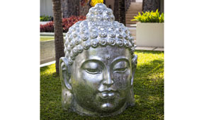 Cabeza plata Buddha