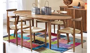 Mesa de comedor ovalada vintage Clarinta - Mesas de Comedor Vintage - Muebles Vintage