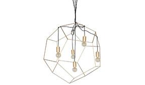 Lámpara techo Dodecaedro dorada grande