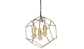 Lámpara techo Dodecaedro pequeña dorada