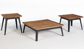Set 3 mesas de centro vintage Leuser