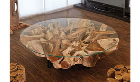 Mesa de centro redonda moderna Naga