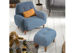 Butaca  infantil Kinsey edición especial azul serenity - Butacas de Diseño - Muebles de Diseño