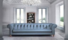Sofá chester Carnaby azul serenity