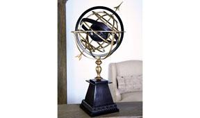 Figura decorativa globo terráqueo Armillary