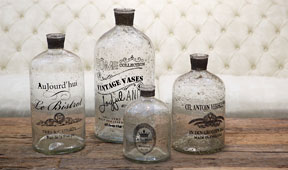 Set 4 botellas decorativas Marble