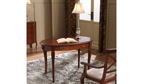 Mesa de escritorio 1 cajón clásico Aldo - Mesas de Escritorio Clásicas - Muebles Clásicos