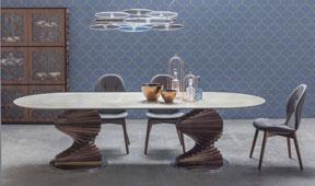 Mesa de comedor oval Firenze Tonin Casa