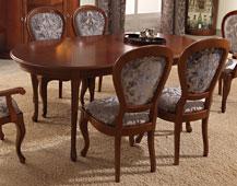 Mesa de comedor extensible clásica Jorja