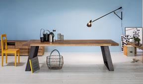 Mesa de comedor industrial Zedis Devina Nais
