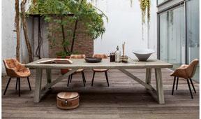 Mesa de comedor vintage Sacai