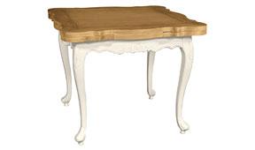 Mesa cuadrada extensible vintage Nantes