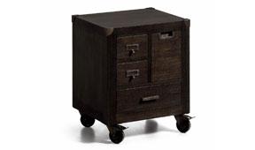 Mesita de noche con ruedas vintage Industrial  - Mesas de Noche Vintage - Muebles Vintage