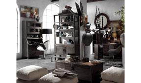 Salón vintage industrial Etnico
