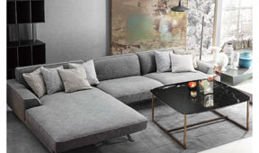 Sofá con chaise longue moderno Crognale