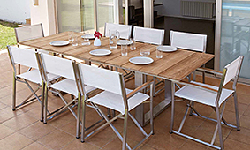 Mesa de comedor extensible Milán