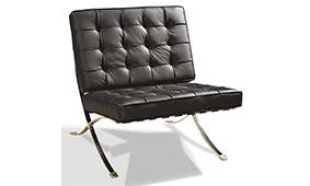 Sillón Piel Negra Ferrara - Butacas de Diseño - Muebles de Diseño