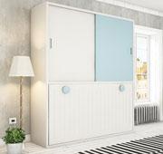 Cama abatible horizontal con armario Alexey