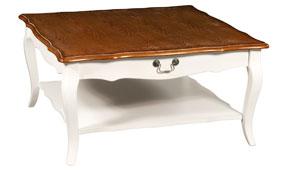 Mesa de centro cuadrada vintage Julienme
