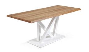 Mesa comedor blanca madera natural Uve