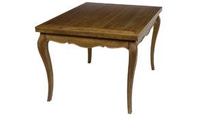 Mesa de comedor cuadrada extensible vintage Metaire - Mesas de Comedor Vintage - Muebles Vintage