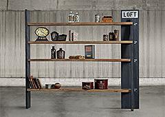 Librería vintage Loft