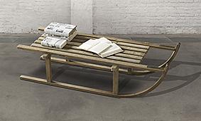 Mesa auxiliar trineo Rosebud - Mesas de Centro Vintage - Muebles Vintage