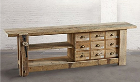 Mesa banco de carpintero con cajones