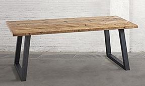 Mesa de comedor vintage pino reciclado