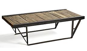 Mesa de centro industrial patín - Mesas de Centro Vintage - Muebles Vintage