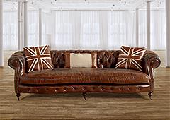 Sofa Chester piel envejecida Kusten