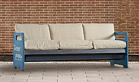 Sfoá industrial blue divani - Sofás Vintage - Muebles Vintage