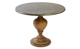 Mesa de comedor redonda vintage Wilat