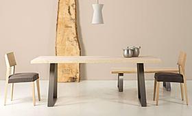 Mesa de comedor madera maciza fresno Juli