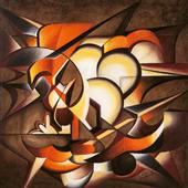Cuadro canvas abstracto dark explosion