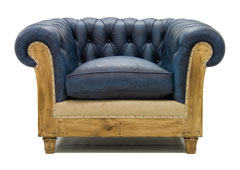 Sillón azul chesterfield Chesire